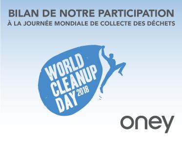 Partenaire du World Clean Up Day, Oney s'engage pour l'environnement