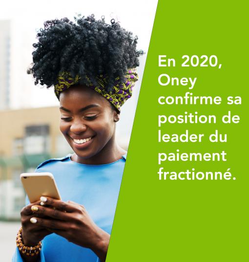 En 2020, Oney confirme sa position de leader du paiement fractionné.